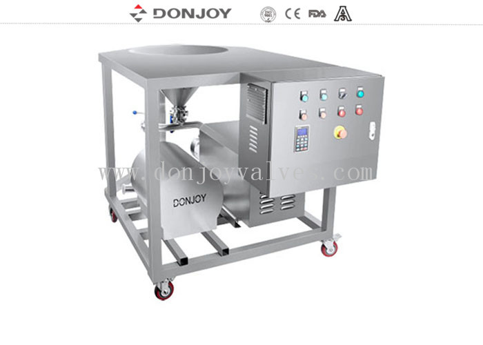 Compact Fluid Mixing Rotary Lobe Pump / Homogeneous Pump Powder Transfer