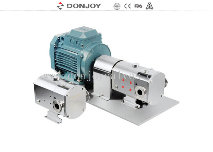 Fluid Control Mini Rotary Lobe Pump Honney Commestic Food Transfering