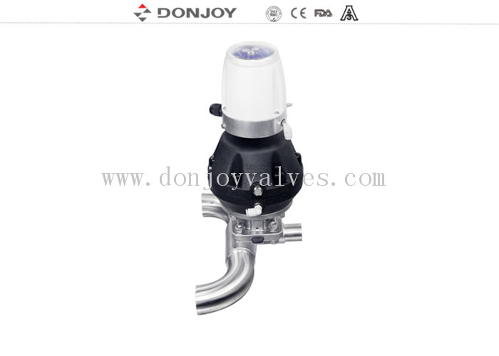 SS316 L Clamp U - C Tee Sanitary Diaphragm Valve DN25 - DN100 Size with C-TOP