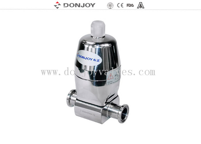 316L SS Direct way Clamp Sanitary Diaphragm Valve with Stainless steel actuator