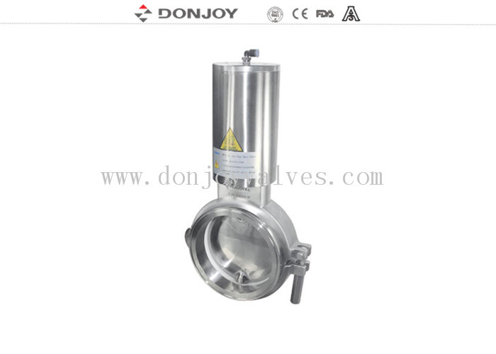Sanitary Grade Manual Butterfly Valve Multi - Position Handle For Powder