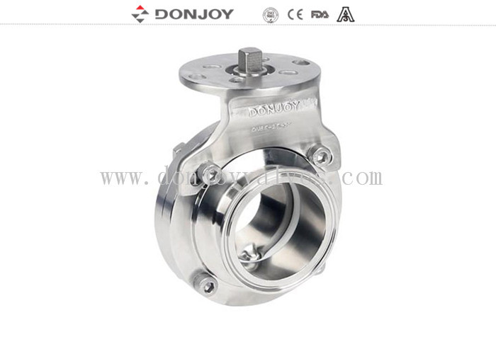 1.5 INCH high quality stainless steel butterfly valves with bracket