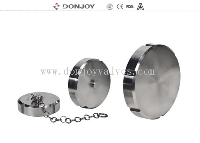 Food Grade Stainless steel sanitary blind cap with/without chain 3A/DIN/SMS