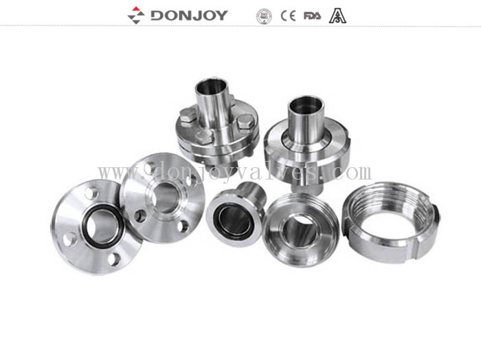 Hygienic Aseptic Flange Set Stainless Steel Sanitary Fittings DN11864  Sanitary Thread union