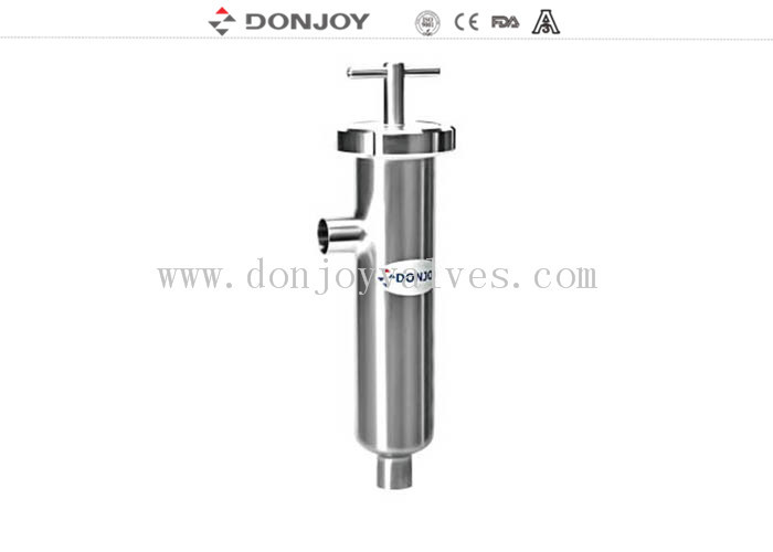 Sanitary  AISI 316L Stainless Steel Juice Pipeline Filter With EPDM Gasket