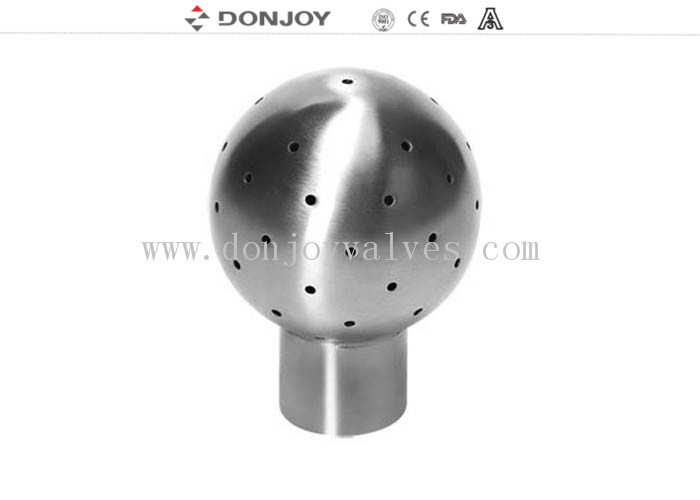 Fixed 360 Degree Tank Spray Balls for Cleaning , Stainless Steel 304 Pin Connection Clean Head