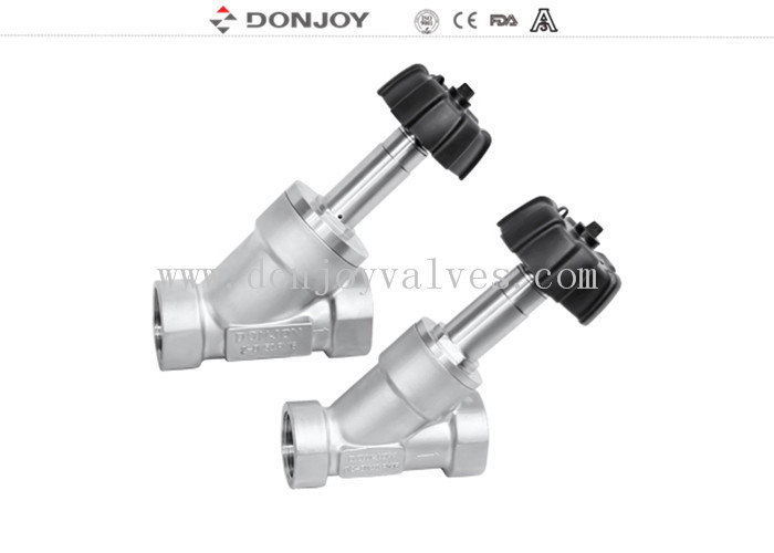 Thread Connection Adjust Angle Seated Valves , Slanted Seat Valve General Switch