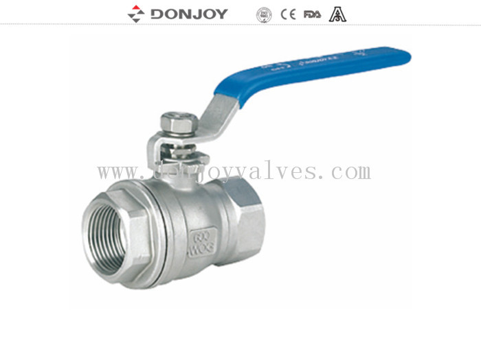 2 Peice female industrial Ball valve With ISO mound and handle , BSP Thread