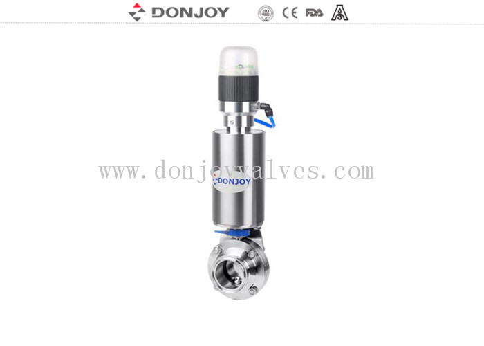 Stainless steel pneumatic butterfly valve control flow regulating valve