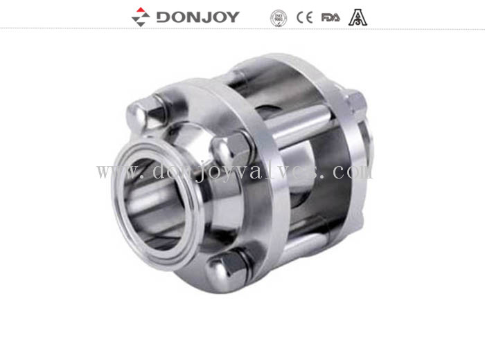 DONJOY Stainless steel clamped straight sight glass with tempered glass 120 degree