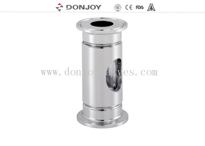 "SS316L / 1.4404 sanitary tubular sight glass with clamped connection 1/2"" to DN10"