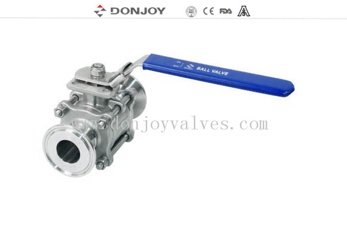 1/2 inch Directly Non retention full port Sanitary Ball Valve with Clamped Connection