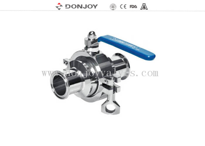 SS316L, DN40 Clamped non-retention valve, PTFE Full port valve